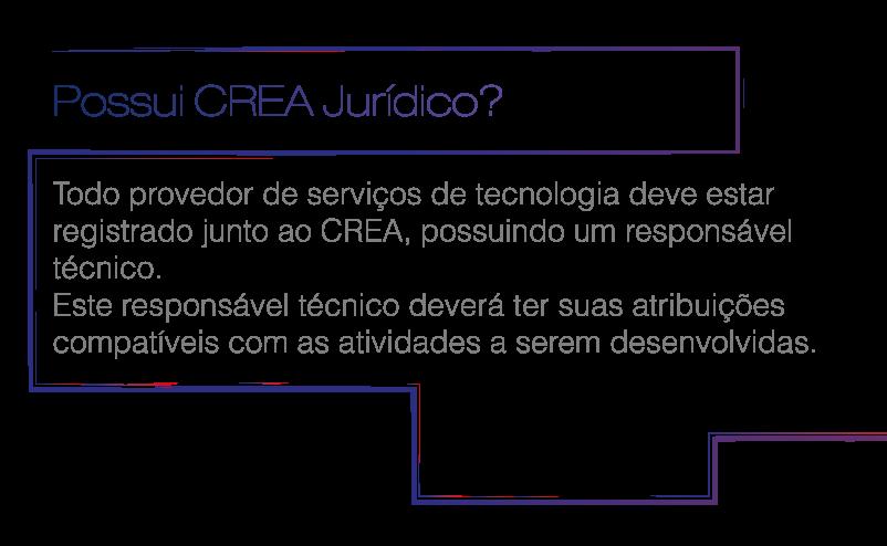 Possui CREA Jurídico?